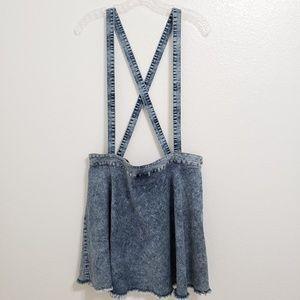 Forever 21+ | Denim Skirt Overalls